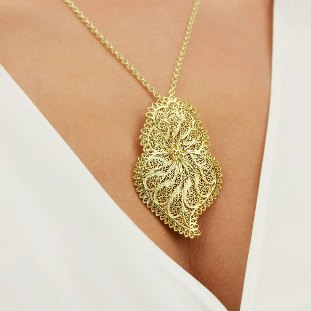 Necklace Heart of Viana Icone in Gold Plated Silver
