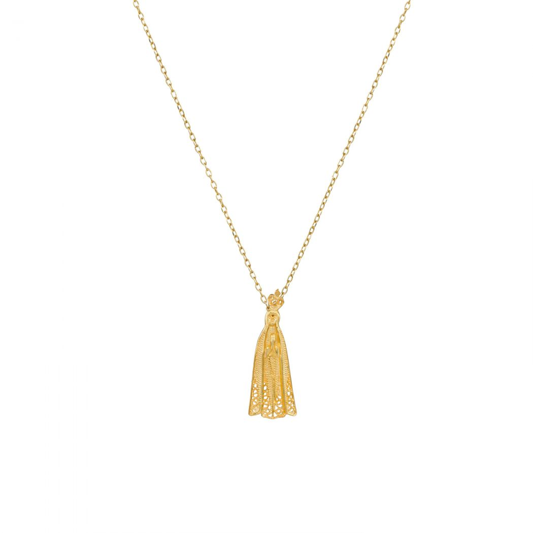 Necklace Our Lady of Fátima in 19,2Kt Gold