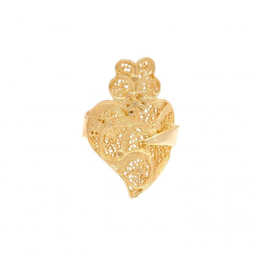 Anel Coração de Viana em Ouro 19,2kt