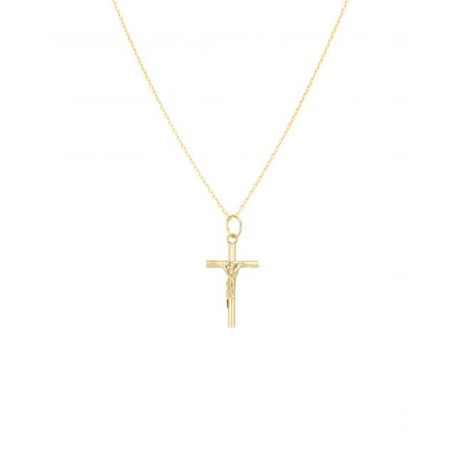 Colar Crucifixo em Ouro 9Kt