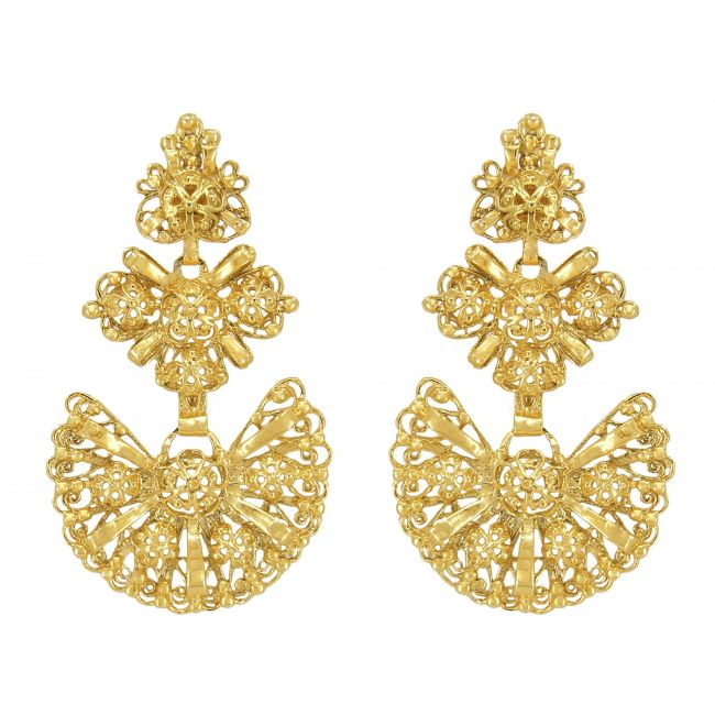 Galegos Earrings in Gold Plated Silver