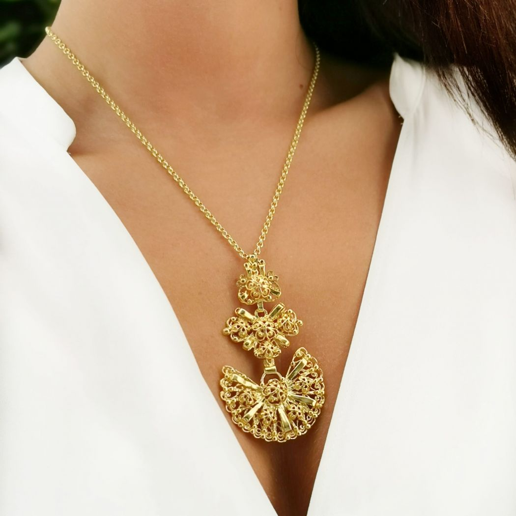 Necklace Galego in Gold Plated Silver
