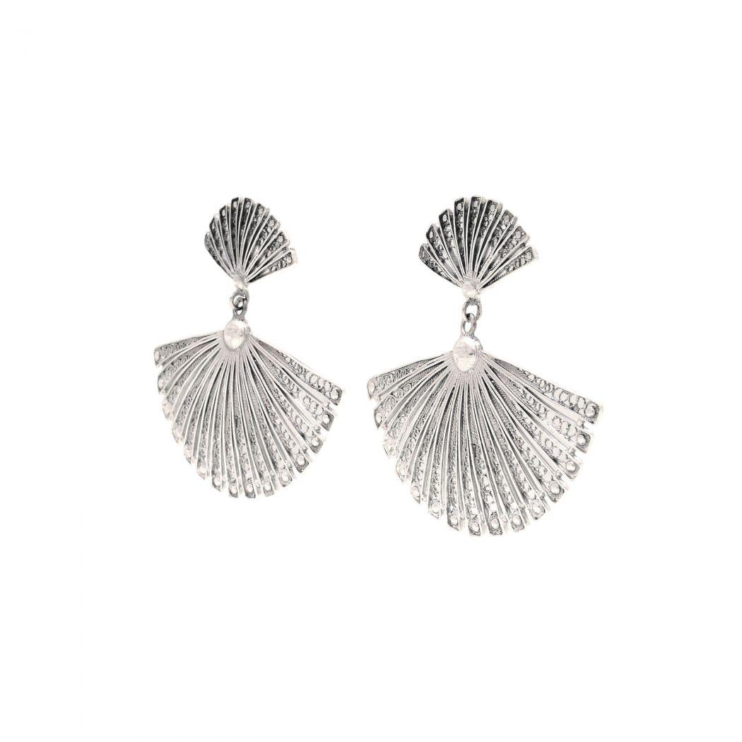 Earrings Fan in Silver
