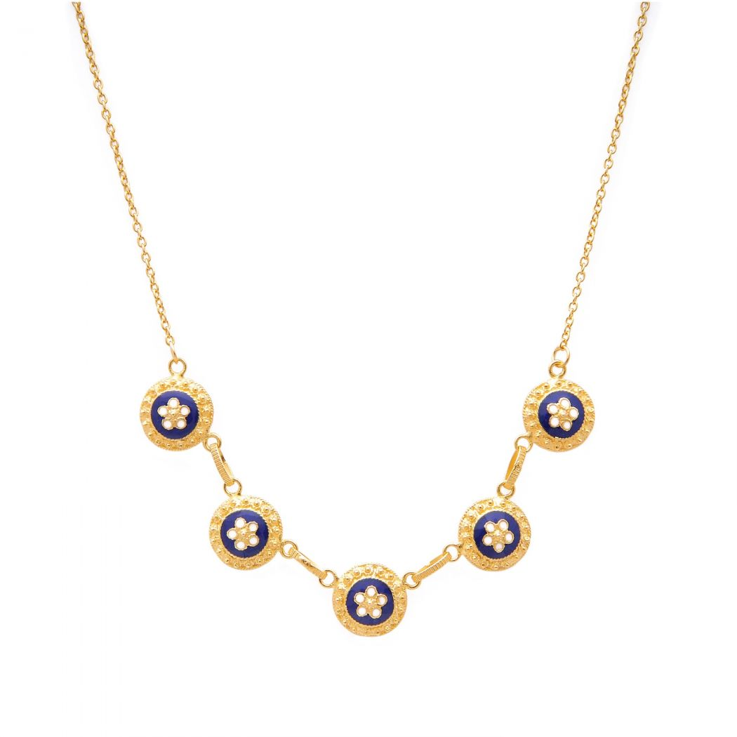Necklace Caramujos in Gold Plated Silver